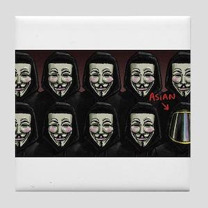 Asian Anonymous Tile Coaster