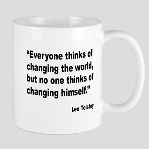 Tolstoy Change Quote Large Mugs