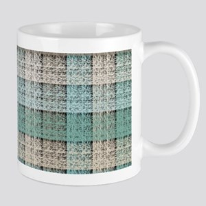Faux Frilly Turquoise Lace Mugs