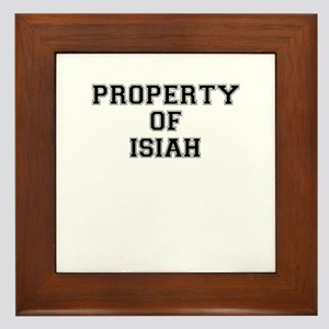 Property of ISIAH Framed Tile