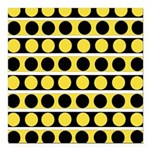 Black, white and yellow polka dots Square Car Magn