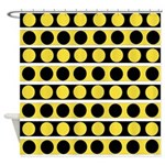 Black, white and yellow polka dots Shower Curtain