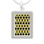 Black, white and yellow polka dots Necklaces