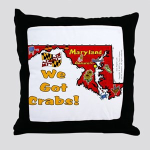 MD-Crabs! Throw Pillow