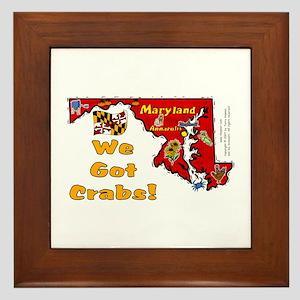 MD-Crabs! Framed Tile