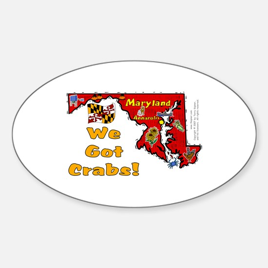 MD-Crabs! Oval Decal