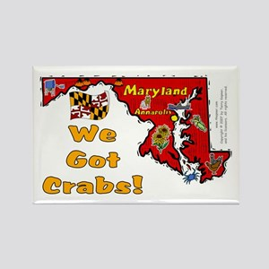 MD-Crabs! Rectangle Magnet