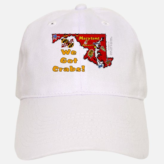 MD-Crabs! Baseball Baseball Cap