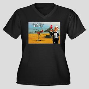 Strawberry Daiquiri (Beach) Plus Size T-Shirt