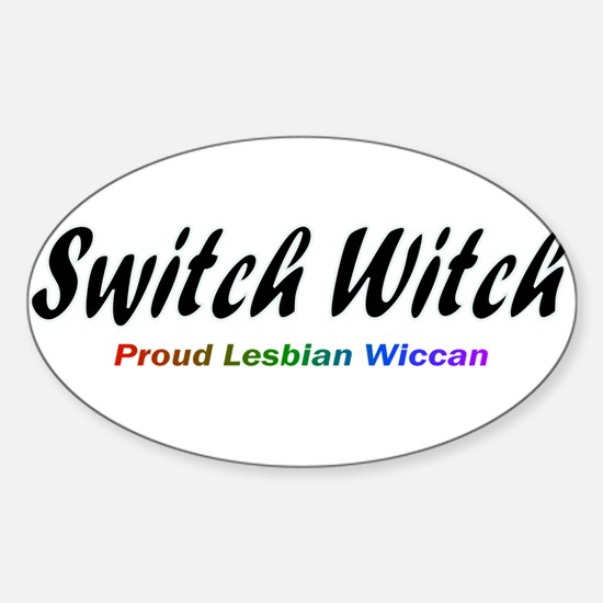 Switch Witch Oval Decal