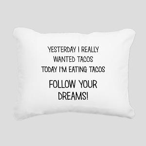 I'M EATING TACOS! Rectangular Canvas Pillow
