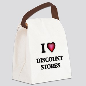 I love Discount Stores Canvas Lunch Bag