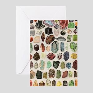Vintage Geology Rocks Gemstones Greeting Cards