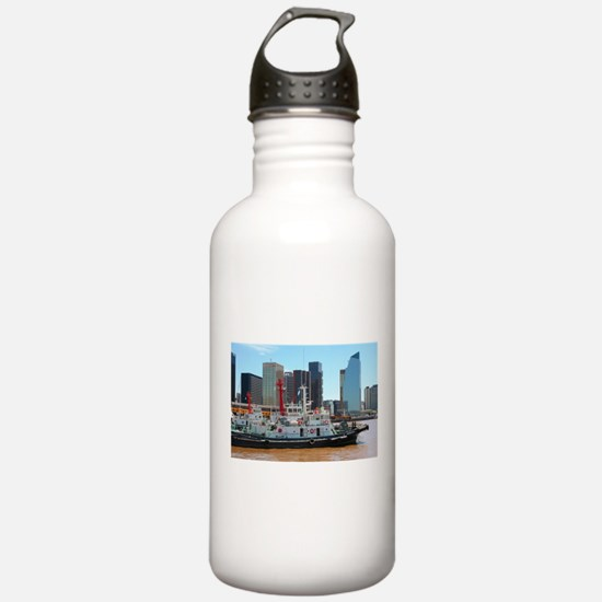 Tug boats, Buenos Aire Water Bottle