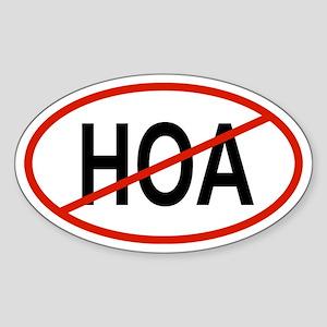 HOA Oval Sticker