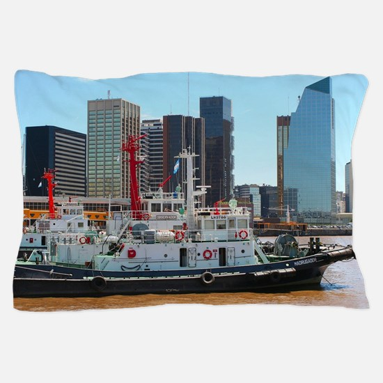 Tug boats, Buenos Aires, Argentina Pillow Case