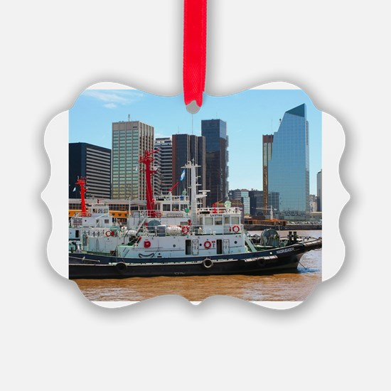 Tug boats, Buenos Aires, Argentin Ornament