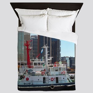 Tug boats, Buenos Aires, Argentina Queen Duvet