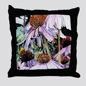 Pink Flowers Throw Pillow