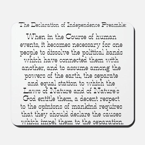 Preamble to Declaration  Mousepad
