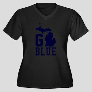 Go BLUE Plus Size T-Shirt