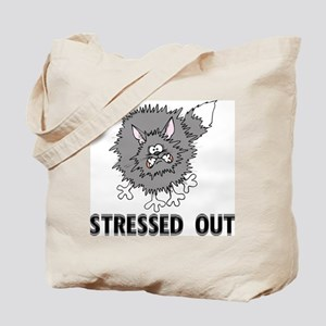 Stressed Out Cat Tote Bag