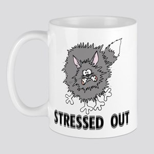 Stressed Out Cat Mug