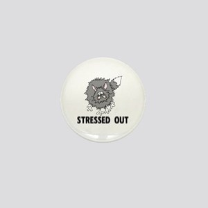 Stressed Out Cat Mini Button