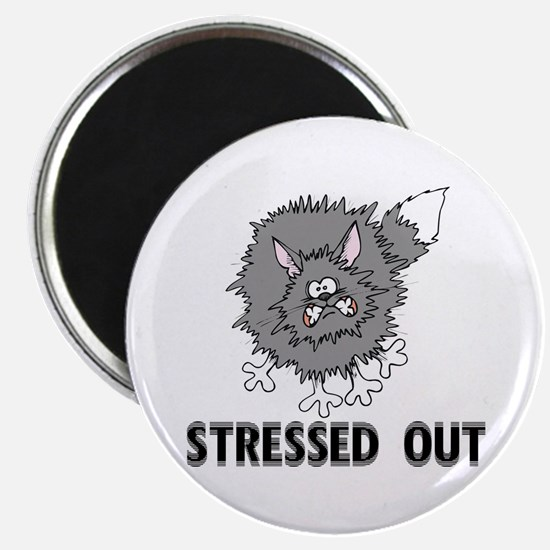 Stressed Out Cat Magnet