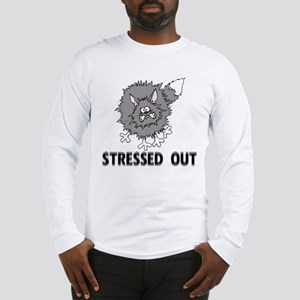 Stressed Out Cat Long Sleeve T-Shirt