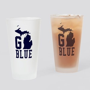Go BLUE Drinking Glass