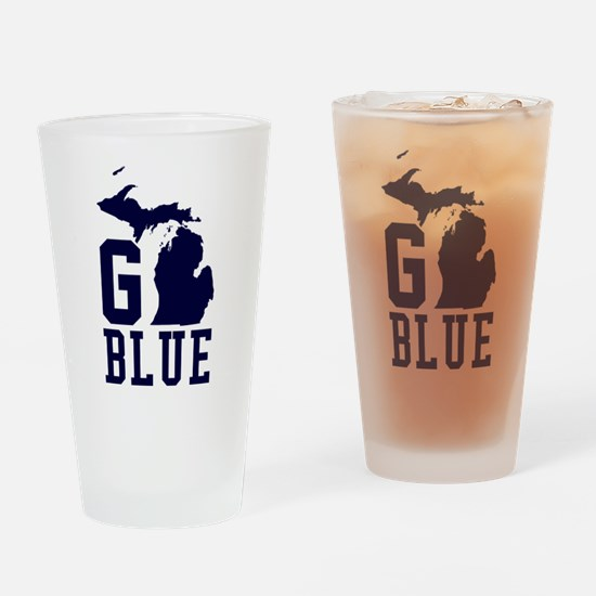 Go BLUE Drinking Glass