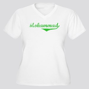 Mohammad Vintage (Green) Women's Plus Size V-Neck