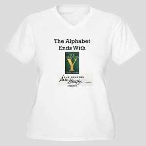 Alphabet Ends Wit Women's Plus Size V-Neck T-Shirt