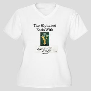 Alphabet Ends Wit Women's Plus Size V-Neck T-Shirt