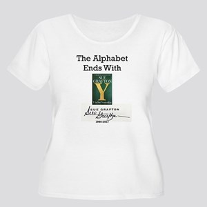 Alphabet Ends Women's Plus Size Scoop Neck T-Shirt