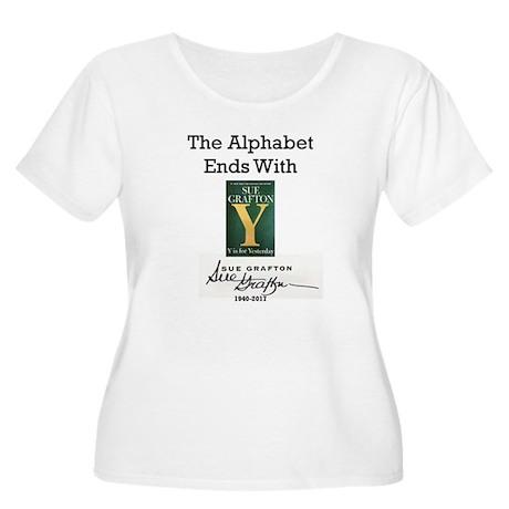Alphabet Ends Women's Plus Size Scoop Neck T-Shirt