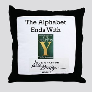 Alphabet Ends With Y Throw Pillow