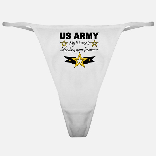 Army My Fiance is defending . Classic Thong