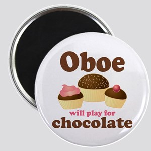 Chocolate Oboe Magnet