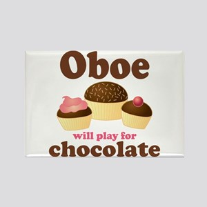 Chocolate Oboe Rectangle Magnet