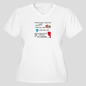Life Changing Women's Plus Size V-Neck T-Shirt