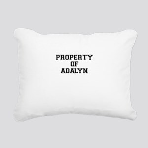 Property of ADALYN Rectangular Canvas Pillow