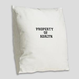 Property of ADALYN Burlap Throw Pillow