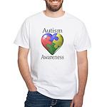 Autism Awareness White T-Shirt