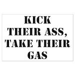 Kick Their Ass, Take Their Ga Large Poster