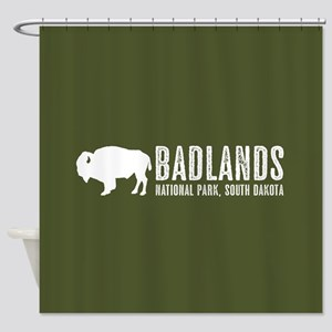 Bison: Badlands, South Dakota Shower Curtain