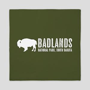 Bison: Badlands, South Dakota Queen Duvet