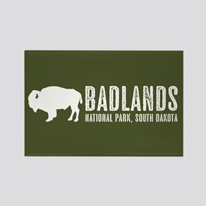 Bison: Badlands, South Dakota Rectangle Magnet