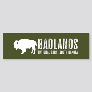 Bison: Badlands, South Dakota Sticker (Bumper)